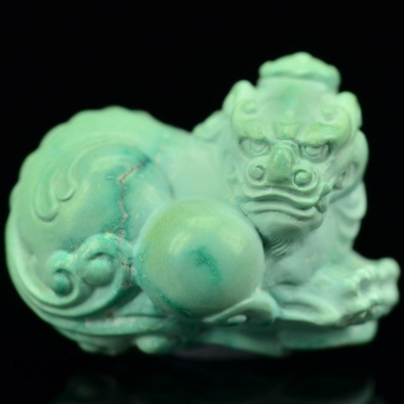 鸿木斋 松石精雕手把件 天然湖北高瓷蓝 绿松石吊坠 孤品CS05 (3).JPG