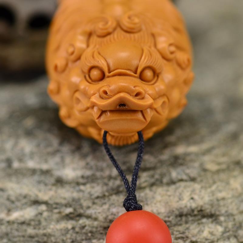 鸿木斋 橄榄核雕 鸿款雕刻单籽大核貔貅小挂件 孤品G133 (4).JPG