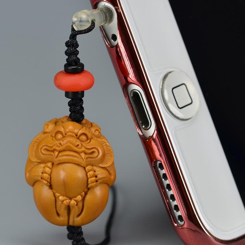 鸿木斋 橄榄核雕 橄榄核雕刻貔貅 手机挂坠 孤品G151 (2).JPG