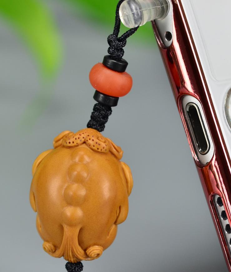 鸿木斋 橄榄核雕 橄榄核雕刻貔貅 手机挂坠 孤品G159 (7).JPG