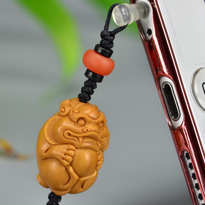 鸿木斋 橄榄核雕 橄榄核雕刻貔貅 手机挂坠 孤品G159 (6).JPG