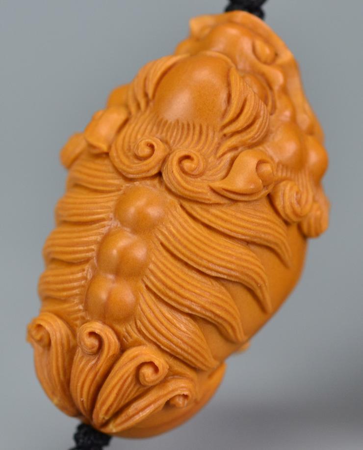 鸿木斋 橄榄核雕 单籽大核橄榄核雕刻貔貅 老油铁核 手机挂坠 孤品g
