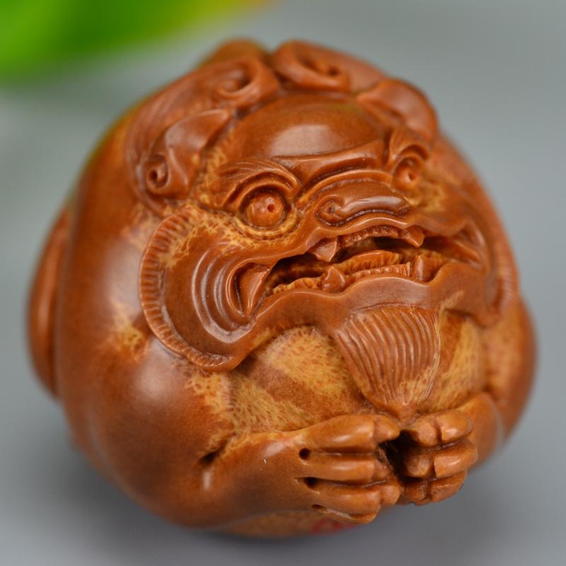 鸿木斋 橄榄核雕刻 貔貅车钥匙坠 孤品G185 (6) - 副本.JPG