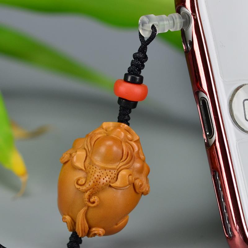 鸿木斋 橄榄核雕 08年铁圆油核貔貅挂件 孤品G188 (3).JPG