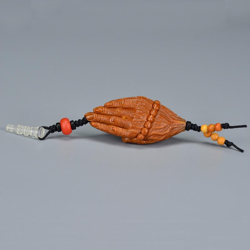 鸿木斋 橄榄核吊坠配饰 一念之间钥匙坠  G197 (3) .JPG