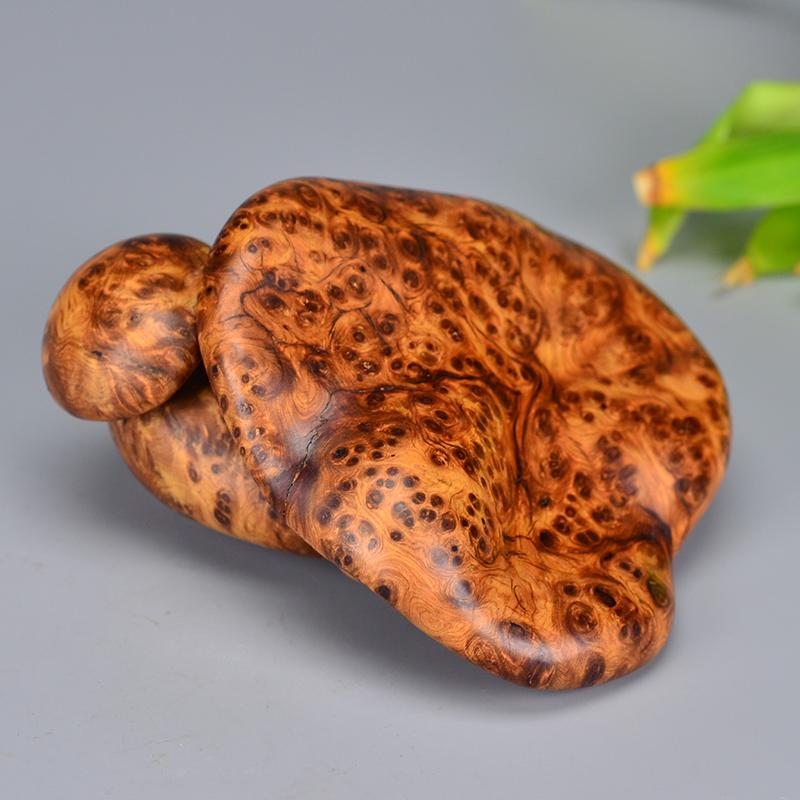 鸿木斋 崖柏雕刻 3寸蘑菇 Y577 (2).JPG