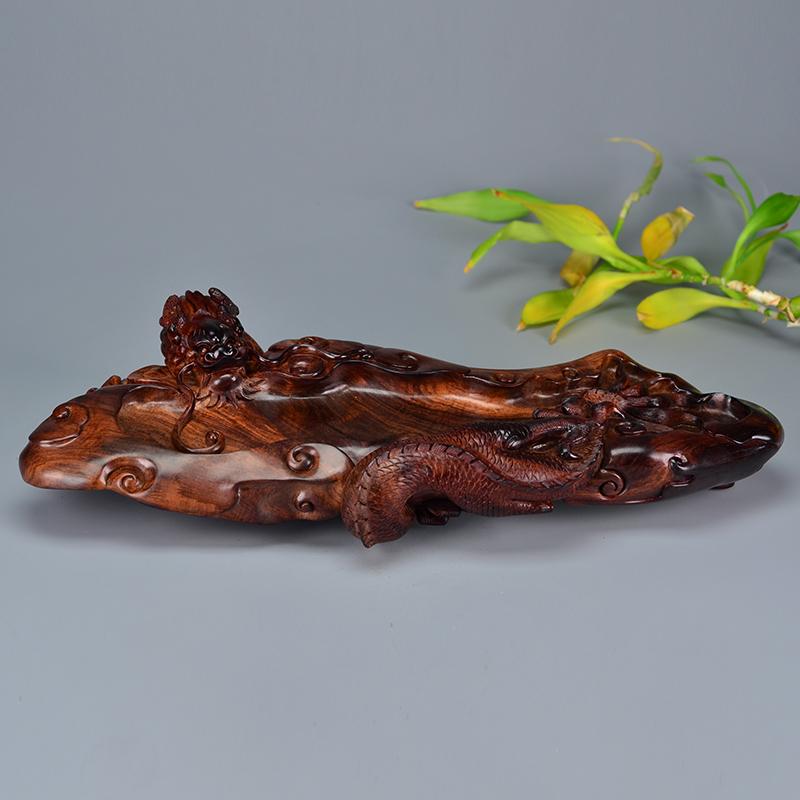 鸿木斋 鸿款雕刻10寸半盘龙笔洗 海黄香插 H6569 (2).JPG