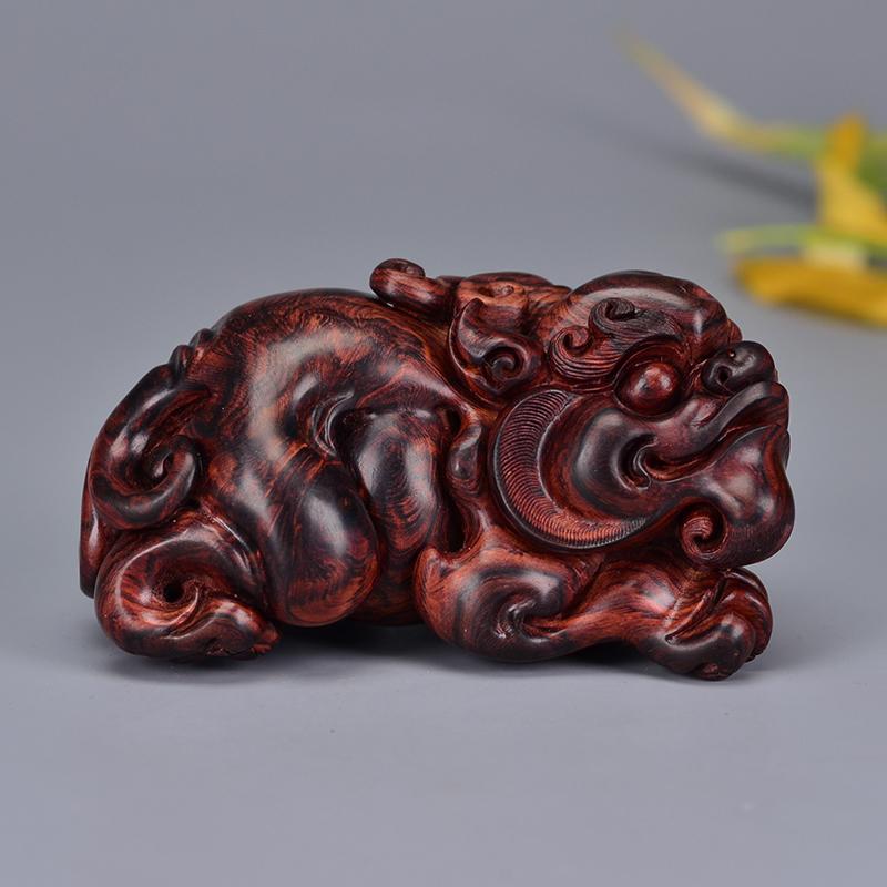 鸿木斋 黄花梨雕刻 3寸貔貅 H6583 (2).JPG