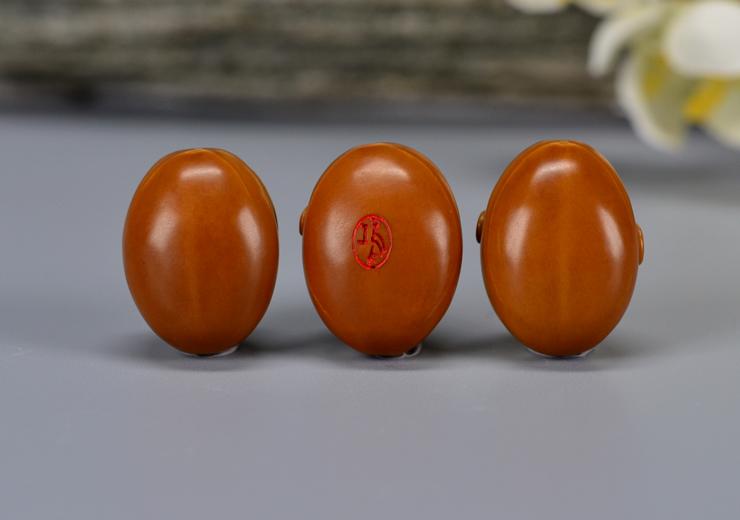 鸿木斋 鸿款橄榄胡雕刻 有福手串  G233 (16) .JPG