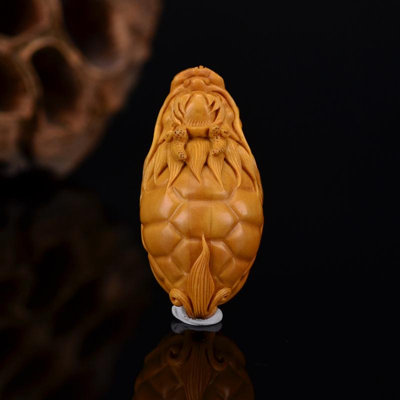 鸿木斋 鸿款雕刻橄榄核龙龟 单籽大核G256 (6) .JPG