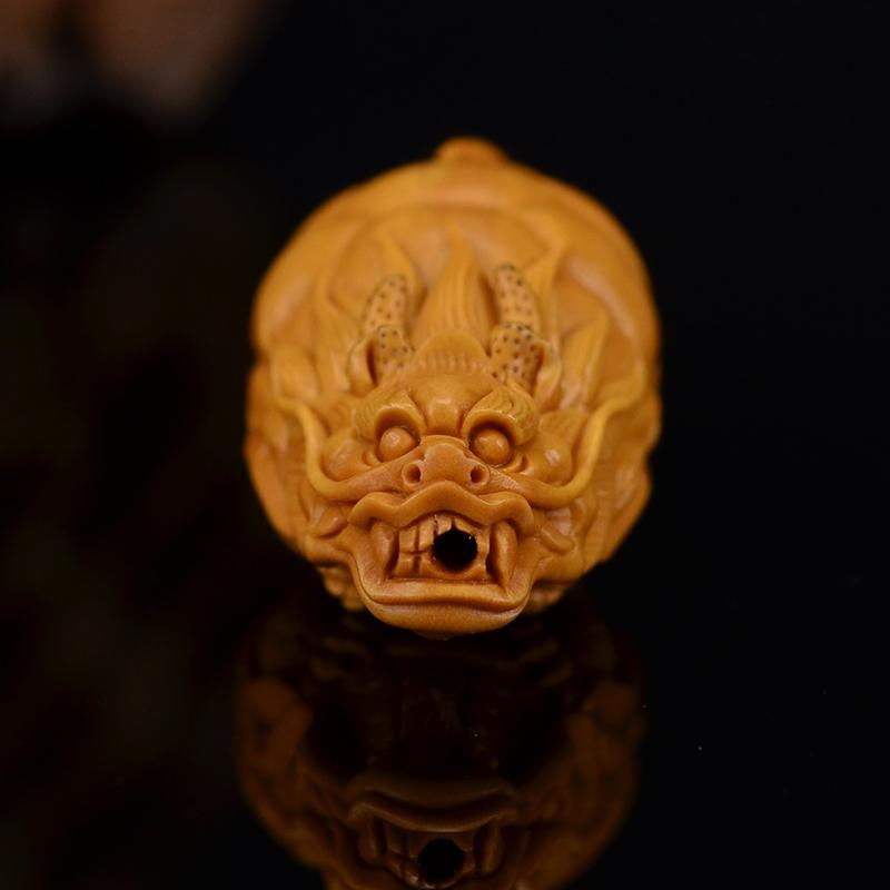 鸿木斋 鸿款雕刻橄榄核龙龟 单籽大核G256 (5) .JPG
