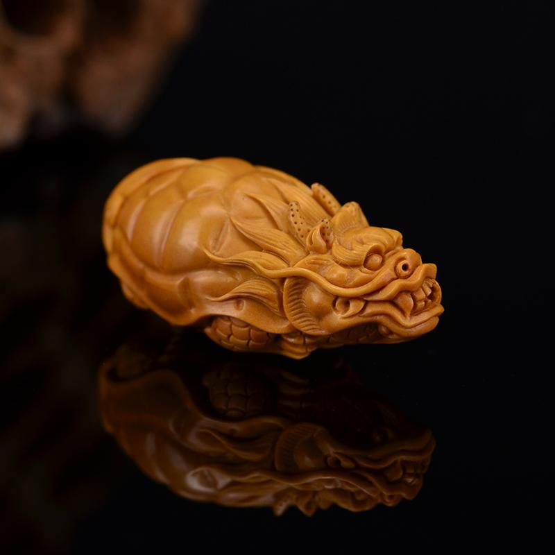 鸿木斋 鸿款雕刻橄榄核龙龟 单籽大核G256 (4) .JPG