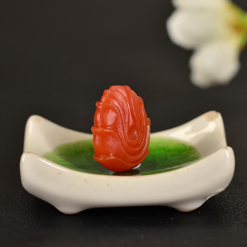 鸿木斋 南红玛瑙雕刻天然保山南红柿子红N3409 (5) .JPG