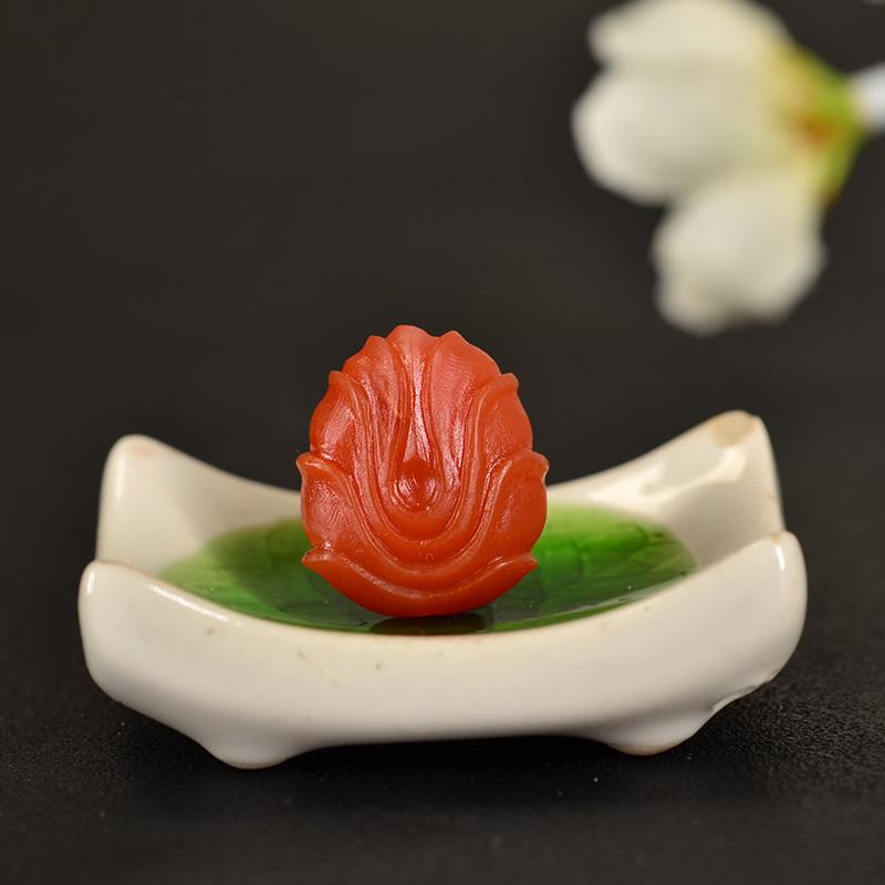 鸿木斋 南红玛瑙雕刻天然保山南红柿子红N3409 (4) .JPG