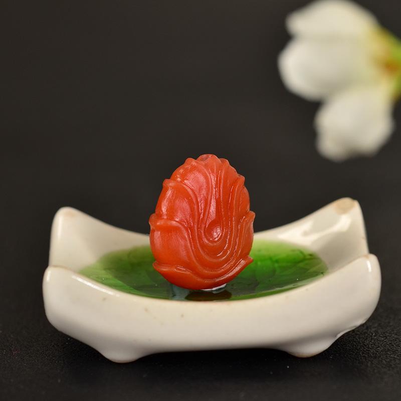 鸿木斋 南红玛瑙雕刻天然保山南红柿子红N3409 (6) .JPG