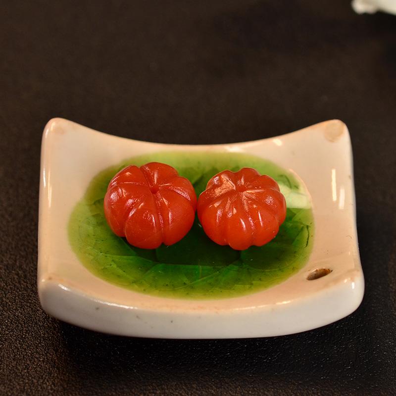 鸿木斋 南红腰珠 天然保山南红柿子红N3417 (5).JPG