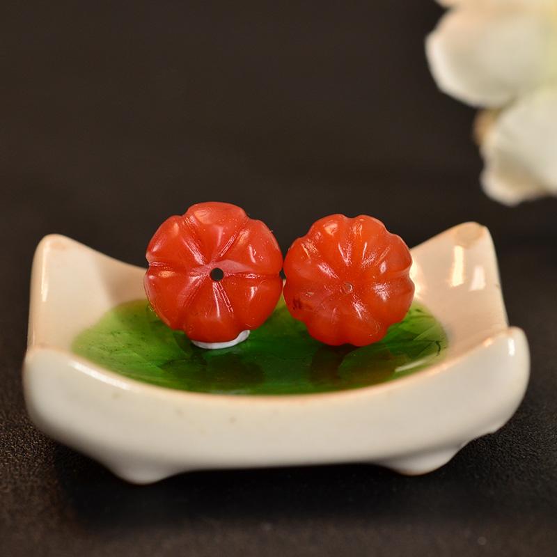 鸿木斋 南红腰珠 天然保山南红柿子红N3417 (6).JPG