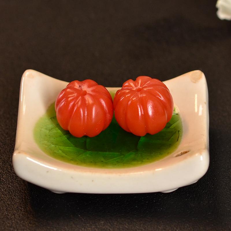 鸿木斋 南红腰珠 天然保山南红柿子红N3418 (5) .JPG