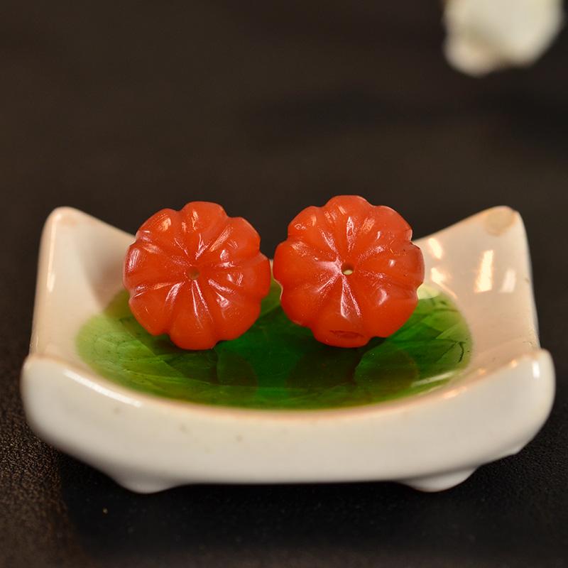 鸿木斋 南红玛瑙散珠 天然保山南红柿子红N3420 (6) .JPG