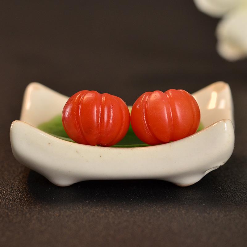 鸿木斋 南红玛瑙散珠 天然保山南红柿子红N3421 (2).JPG
