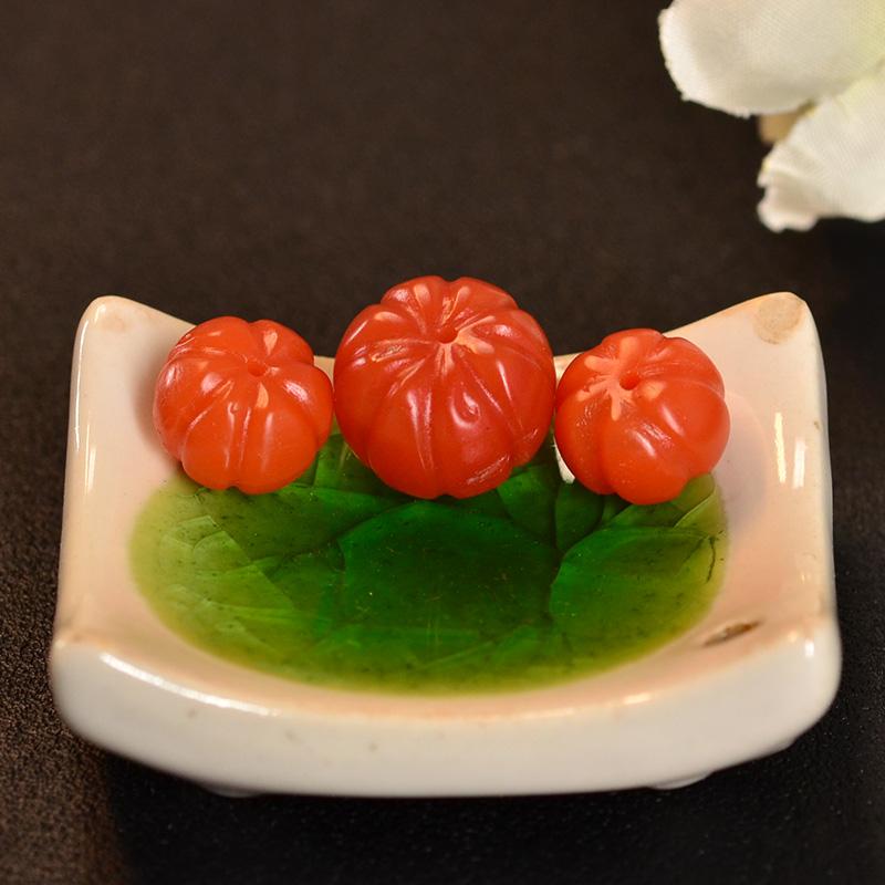 鸿木斋 南红玛瑙散珠 天然保山南红柿子红N3422 (4).JPG