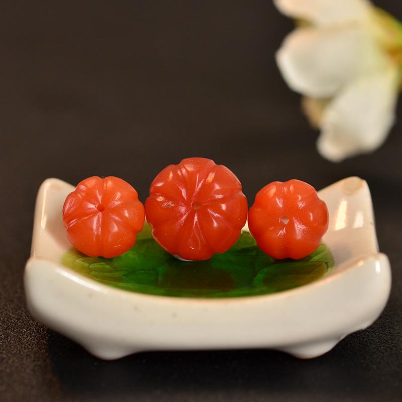 鸿木斋 南红玛瑙散珠 天然保山南红柿子红N3422 (5).JPG