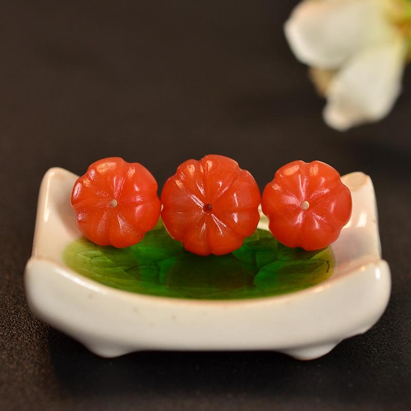 鸿木斋 南红玛瑙散珠 天然保山南红柿子红N3423 (6) .JPG