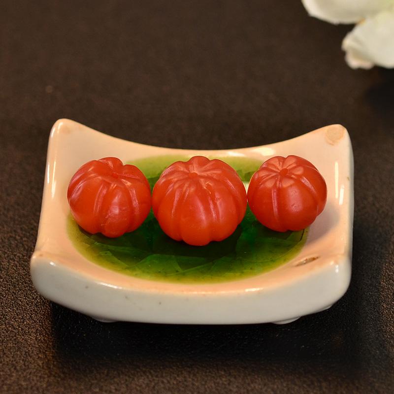 鸿木斋 南红腰珠 天然保山南红柿子红N3432 (5) .JPG