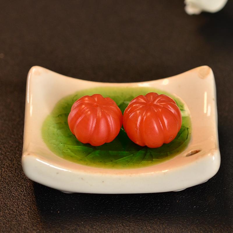 鸿木斋 南红腰珠 天然保山南红柿子红N3433 (5).JPG