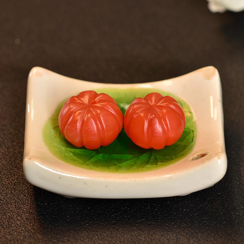 鸿木斋 南红腰珠 天然保山南红柿子红N3435 (5).JPG