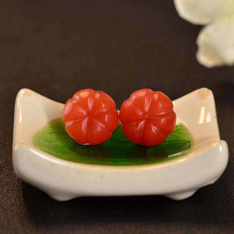 鸿木斋 南红玛瑙散珠 天然保山南红柿子红N3441 (6) .JPG