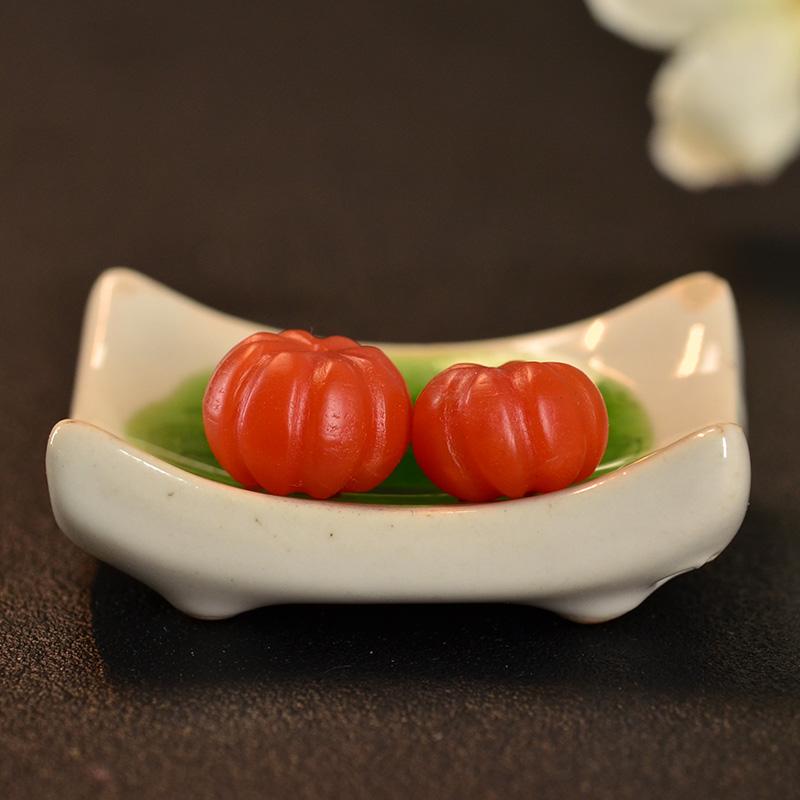 鸿木斋 南红玛瑙散珠 天然保山南红柿子红N3442 (2) .JPG