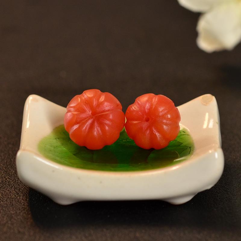 鸿木斋 南红玛瑙散珠 天然保山南红柿子红N3442 (6) .JPG