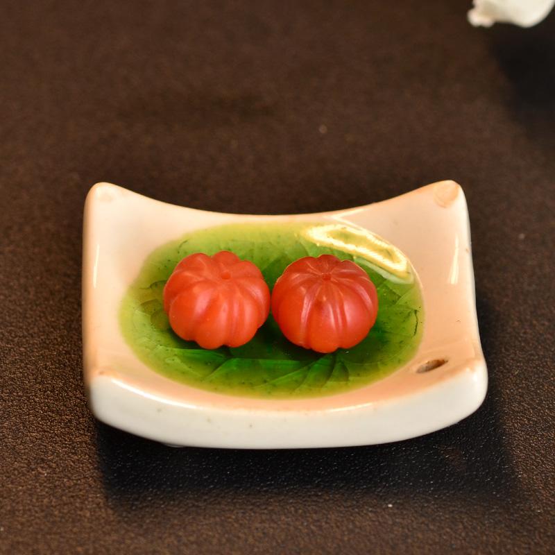 鸿木斋 南红玛瑙腰珠 天然柿子红 南红南瓜珠 孤品N3448 (4).JPG