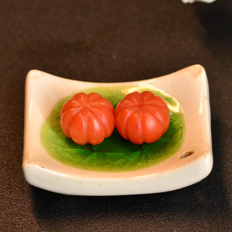 鸿木斋 南红玛瑙腰珠 天然柿子红 南红南瓜珠 孤品N3451 (4).JPG