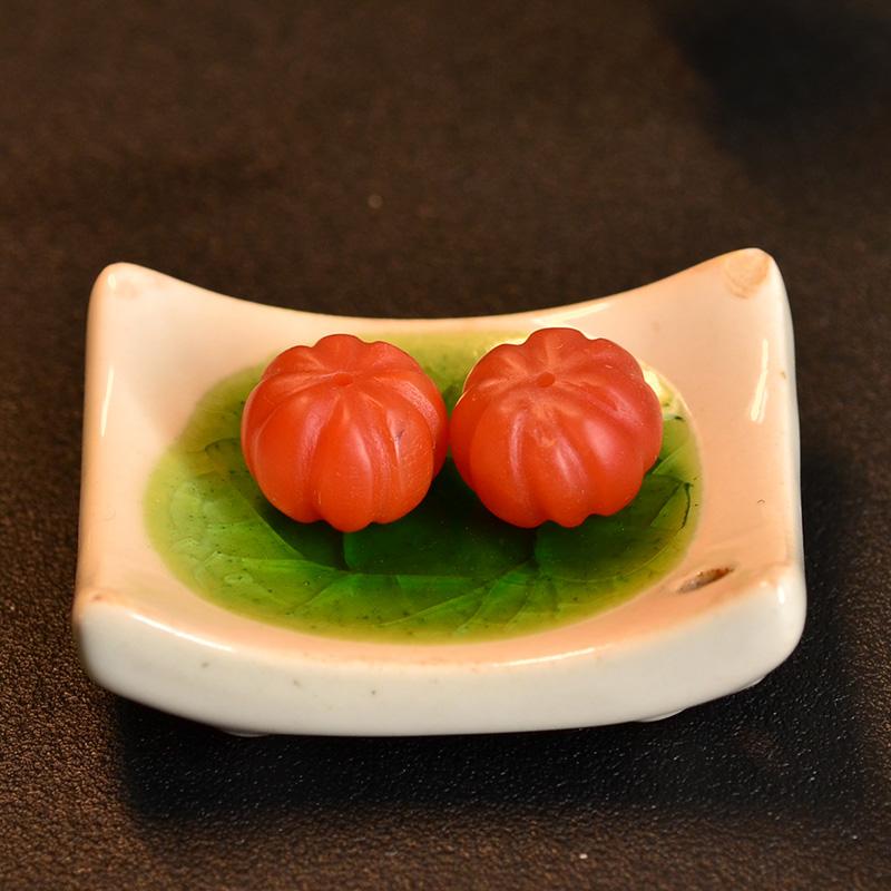 鸿木斋 保山南红散珠 天然柿子红南瓜珠N3458 (5).JPG