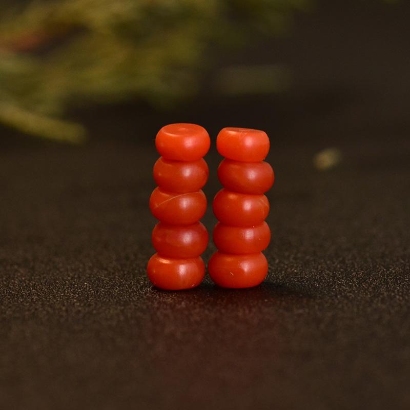 鸿木斋 南红玛瑙散珠 天然保山南红柿子红N3475 (2) .JPG