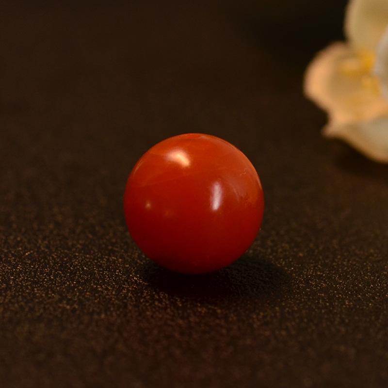 鸿木斋 保山南红散珠 天然柿子红N3476 (2) .JPG