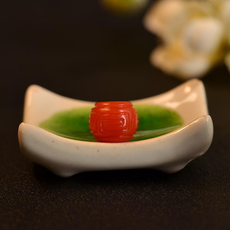 鸿木斋 南红玛瑙单珠 天然保山南红柿子红N3492 (5) .JPG