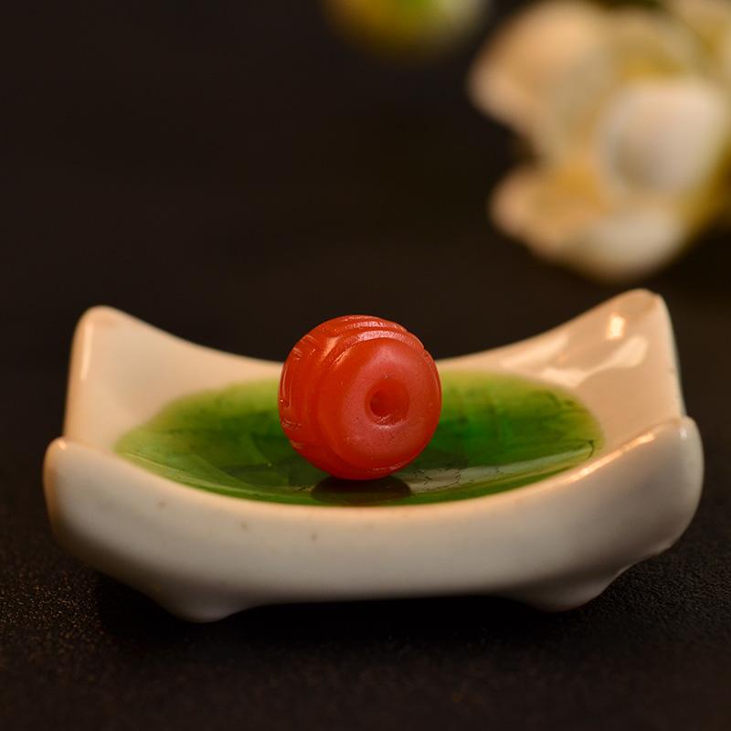 鸿木斋 南红玛瑙单珠 天然保山南红柿子红N3492 (6) .JPG