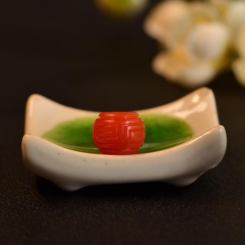 鸿木斋 南红玛瑙单珠 天然保山南红柿子红N3492 (2) .JPG