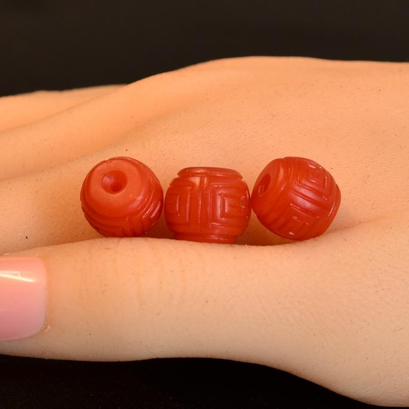 鸿木斋 南红玛瑙顶珠腰珠 天然保山南红柿子红N3499 (7).JPG