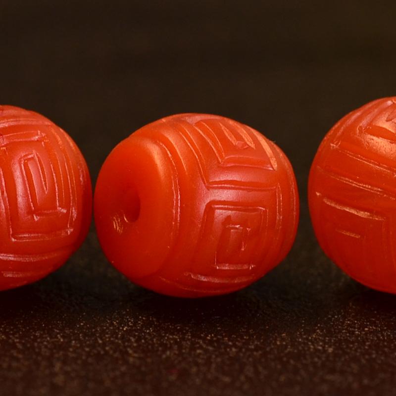 鸿木斋 南红玛瑙顶珠腰珠 天然保山南红柿子红N3499 (5).JPG