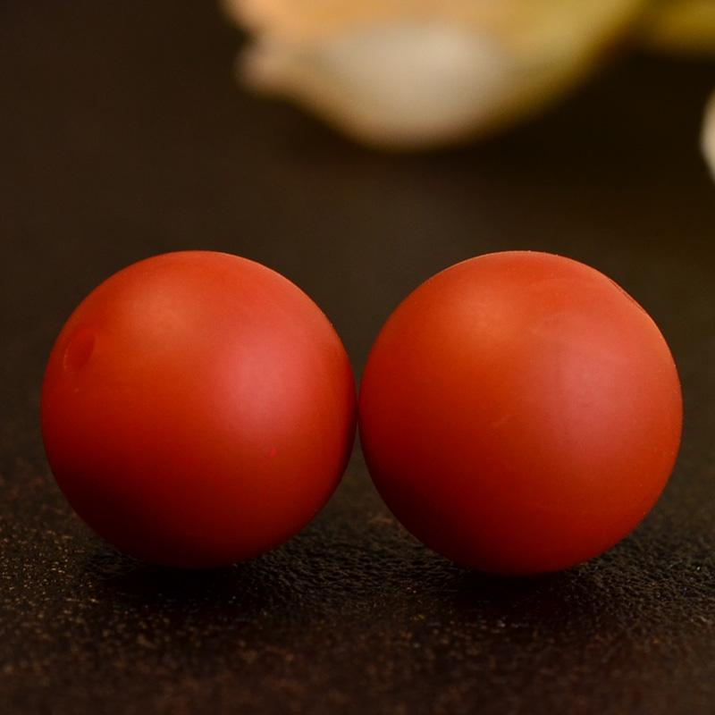 鸿木斋 南红玛瑙散珠 天然保山南红柿子红N3503 (4) .JPG