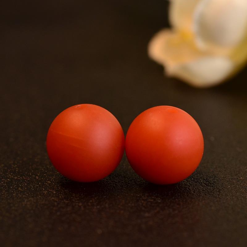 鸿木斋 南红玛瑙散珠 天然保山南红柿子红N3505 (4) .JPG