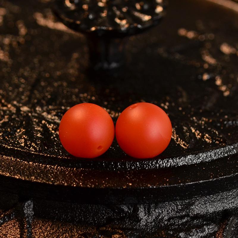 鸿木斋 天然保山南红腰珠 满色满肉柿子红N3519 (2) .JPG