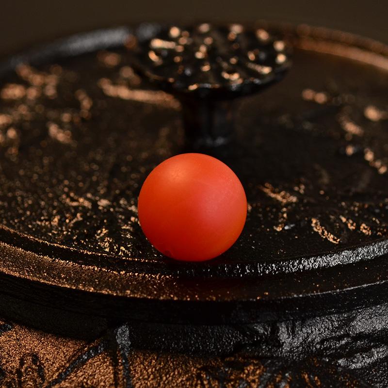 鸿木斋 天然保山南红顶珠 满色柿子红 N3520 (2) .JPG