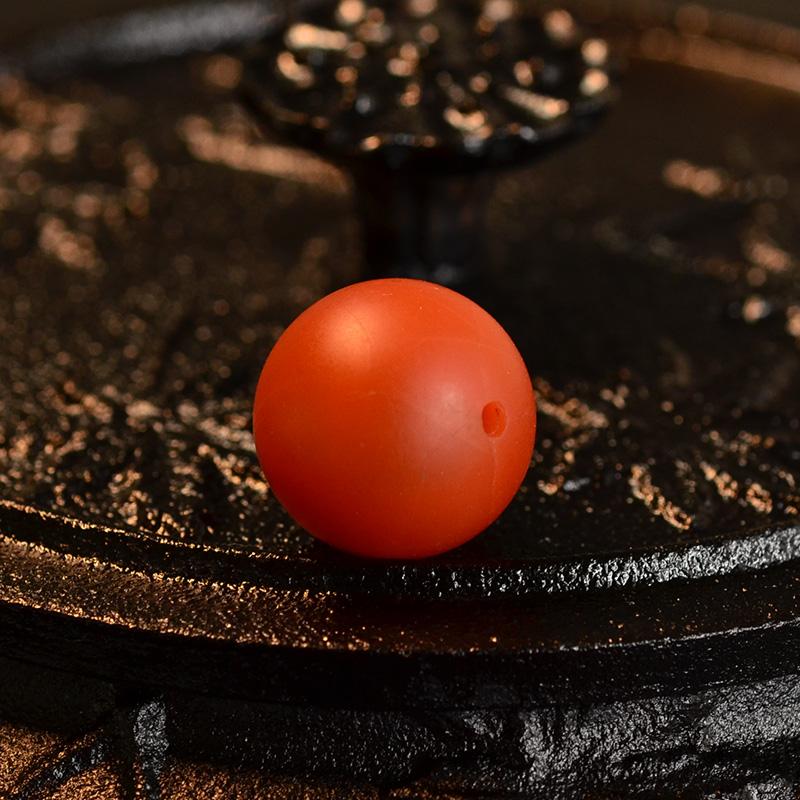 鸿木斋 天然保山南红顶珠 满色满肉柿子红 N3522 (5) .JPG
