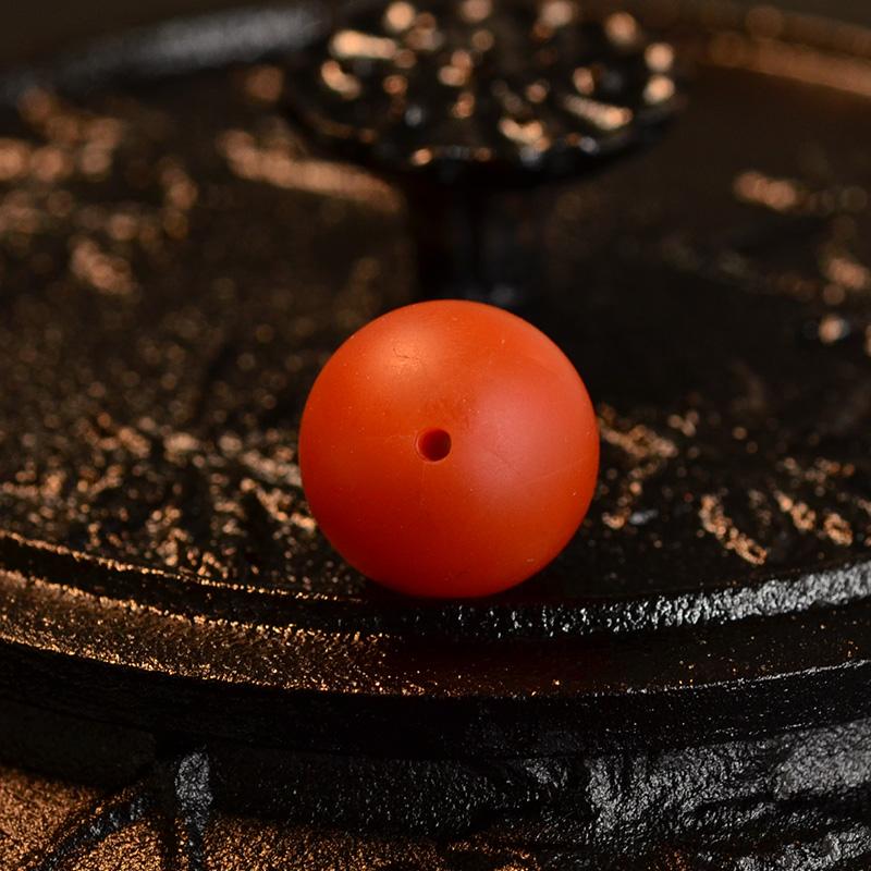 鸿木斋 天然保山南红顶珠 满色满肉柿子红 N3522 (4) .JPG