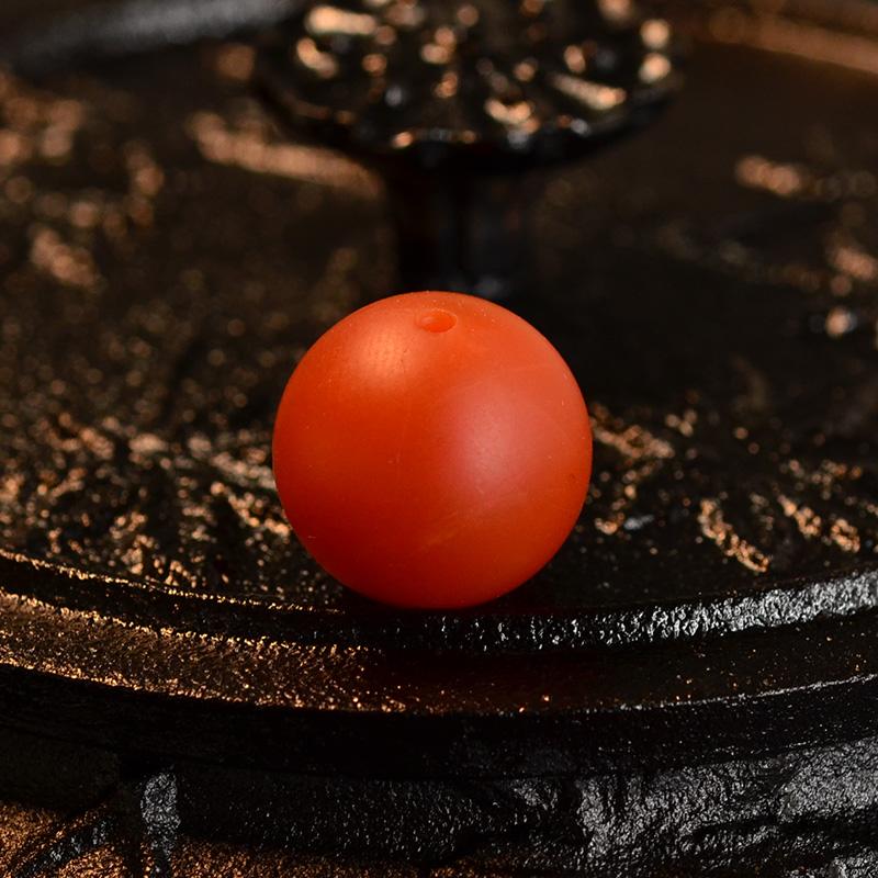 鸿木斋 天然保山南红顶珠 满色满肉柿子红 N3522 (2) .JPG